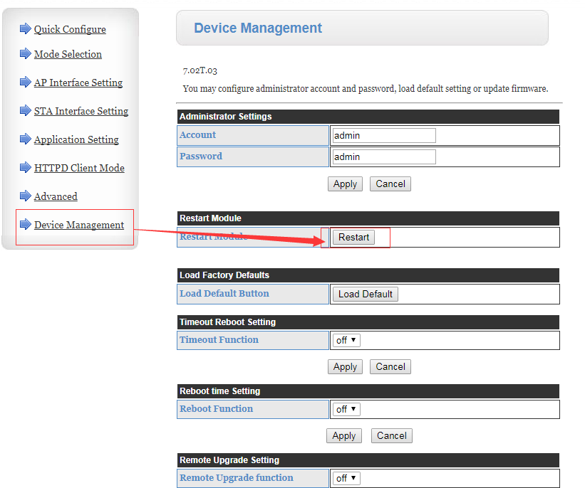 Serial to WiFi Converters https Client Mode Manual