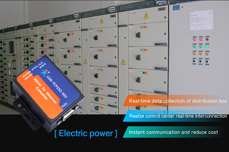 Application of Serial to Ethernet Converter:electric power