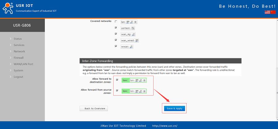 G806+H3C WSR800-10 realize VPN networking-Configure Firewall
