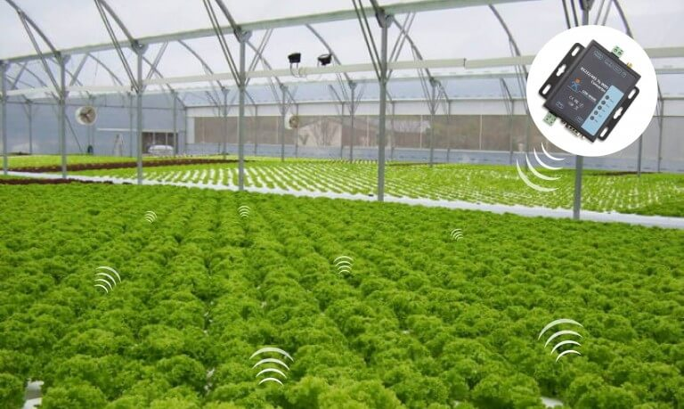 application of  RS232 RS485 to WiFi Converter: Agricultural field