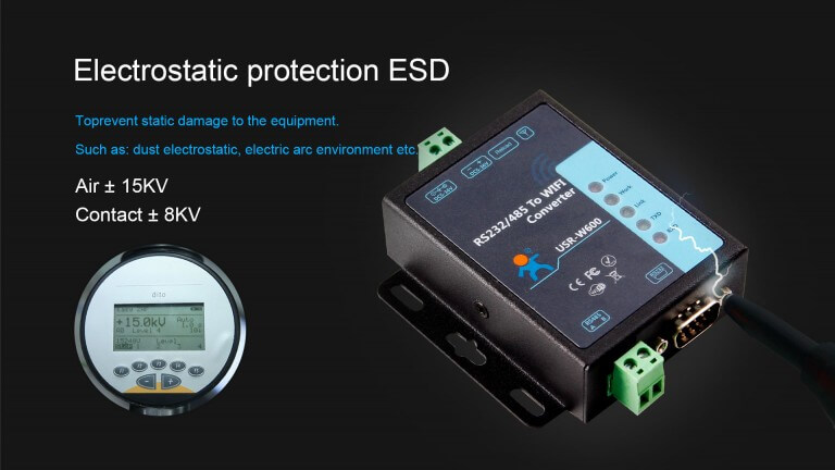 RS232 RS485 to WiFi Converter has passed ESD test