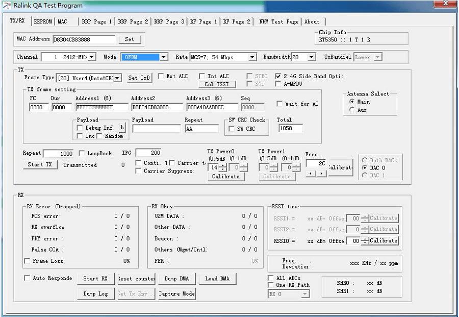USR-WIFI232-B RF tool RT5350QA User Manual