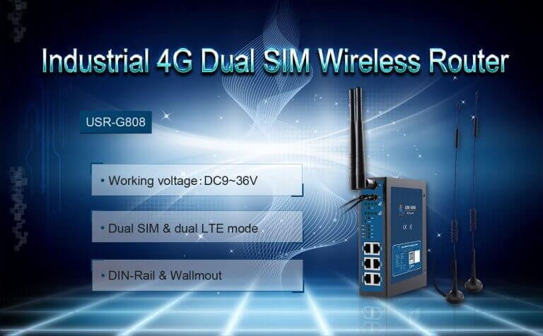 Features of SIM industrial LTE Router