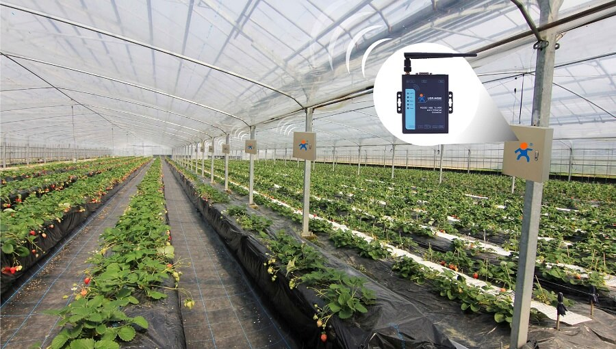 Applications Smart Agriculture, Serial to WIFI and Ethernet Converter-USR-W630