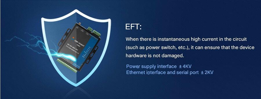 EFT ,8-way network IO controller USR-IO808-GR