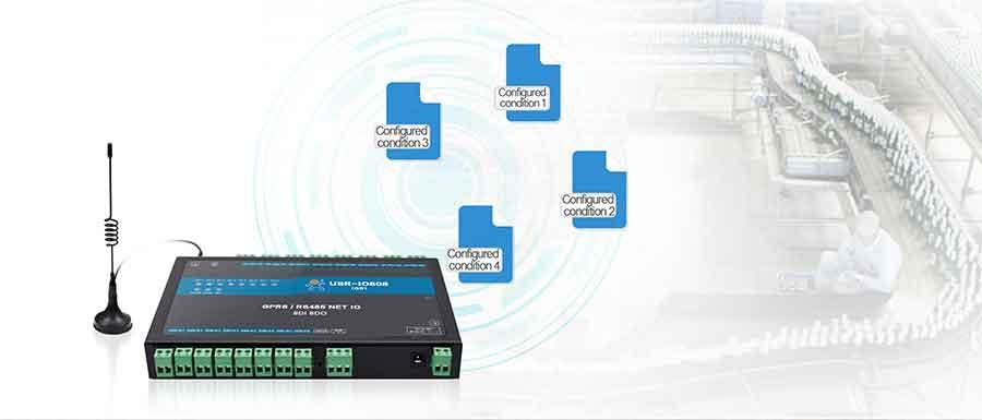 conditional control, features, 8-way network IO controller USR-IO808-GR