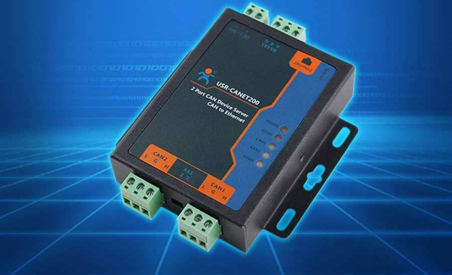 image of industrial CAN to Ethernet Converter - USR-CANET200