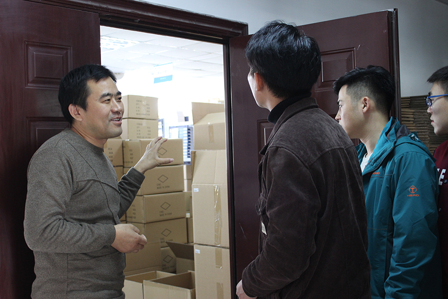 Vice President of Supply Chain, Fang Yujun (Left First), will show you around the supply chain base