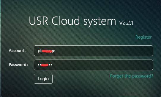 Serial to WiFi and Ethernet Converter-W610 USR-CLOUD Test, login USR-CLOUD system