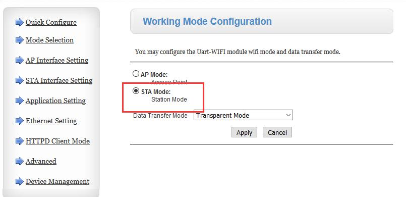 WiFi Mode One to One Transmission on USRcloud