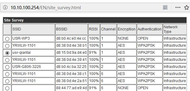 WIFI Series Joins Router, search AP