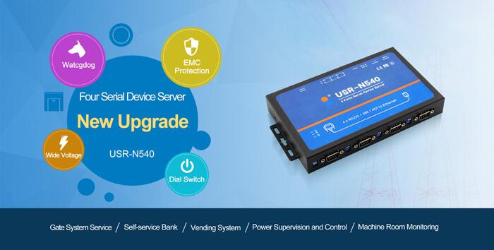 4 ports Serial Ethernet Converter N540