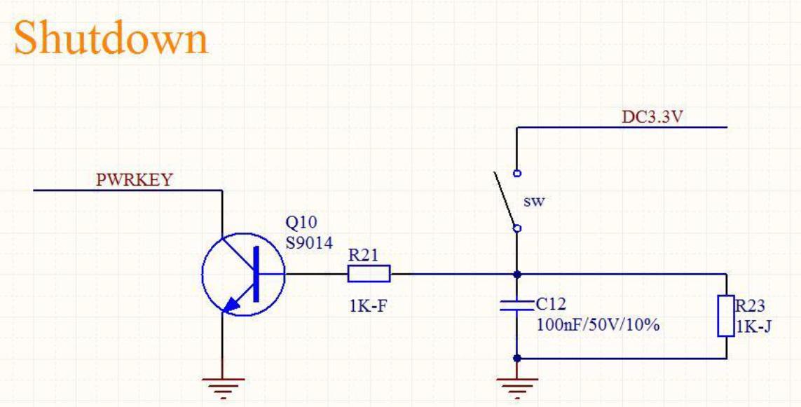 Start and shutdown device interface of gsm module USR-GM3