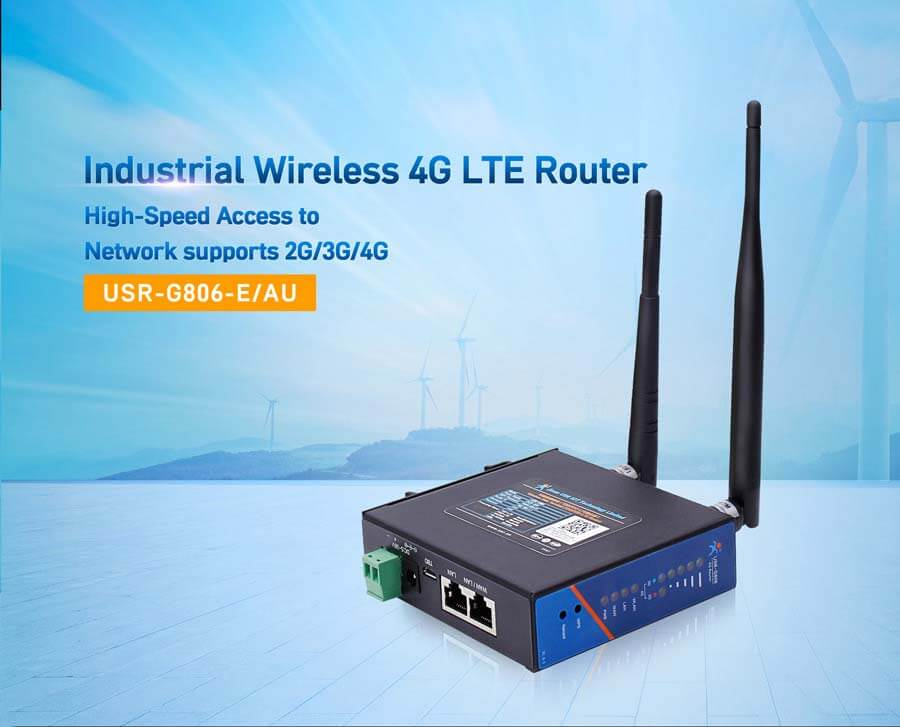 industrial Wireless 4G LTE Router,network supports 2G/3G/4G USR-G806-E/AU