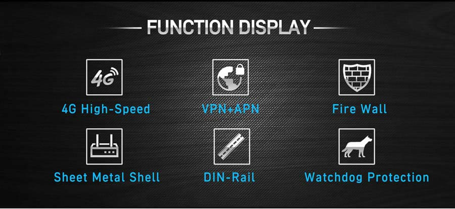 FUNCTION DISPLAY:4G High-Speed