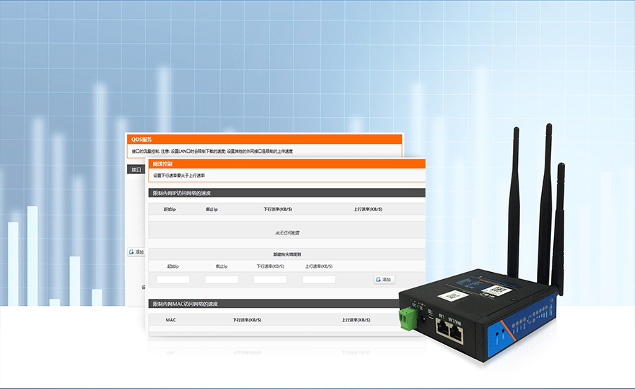 industrial wireless 4G LTE Router-USR-G806-A: Intelligent management of control the traffic