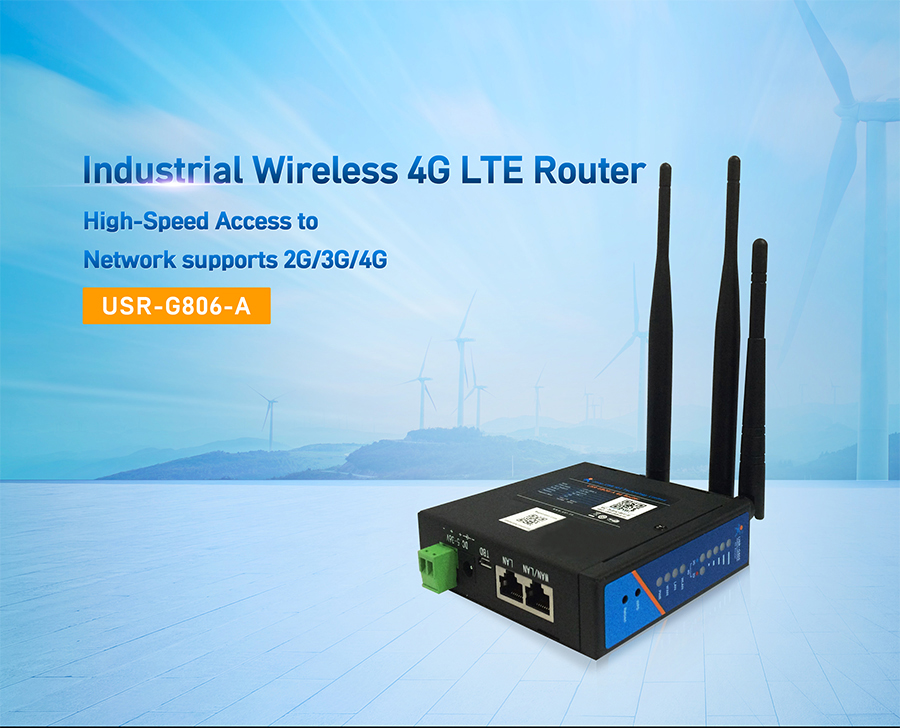 industrial wireless 4G LTE Router-USR-G806-A