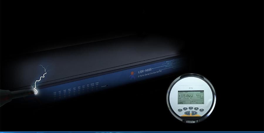 industrial 8 serial port ethernet converter USR-N668: Electrostatic protection ESD