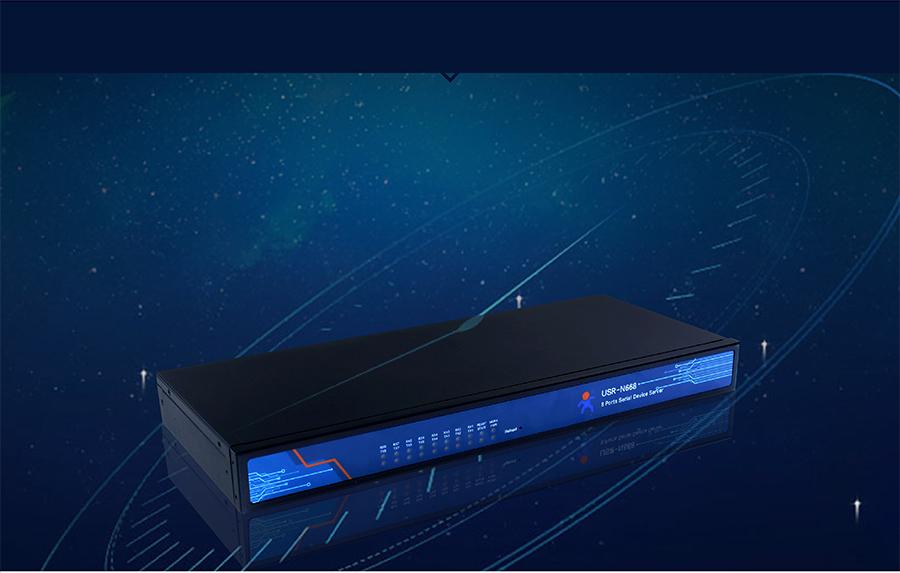 industrial 8 serial port ethernet converter USR-N668: The clock to proofread function