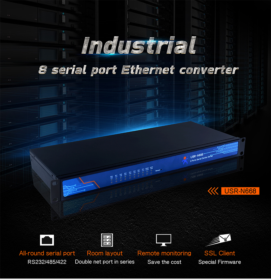 8-serial-port serial to ethernet converter
