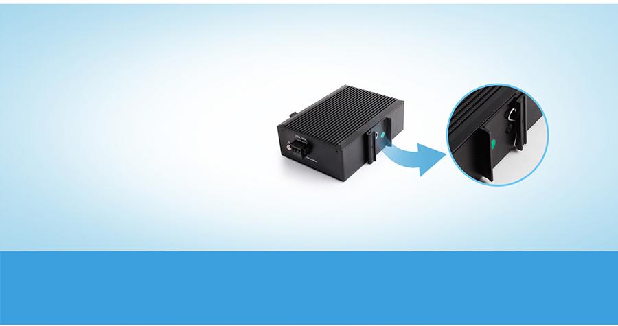 industrial ethernet switch USR-SDR021: DIN-Rail Mounting