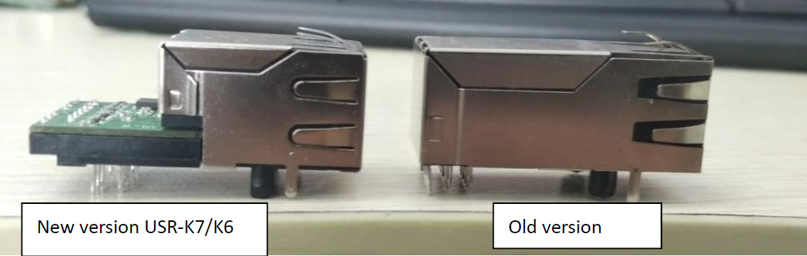 Side view of Difference between K7 K6 and USR-K3 K2 Version