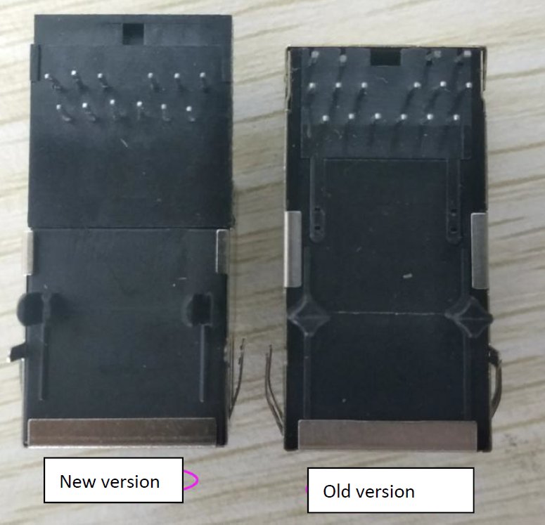 Bottom view: Difference between K7 K6 and USR-K3 K2 Version