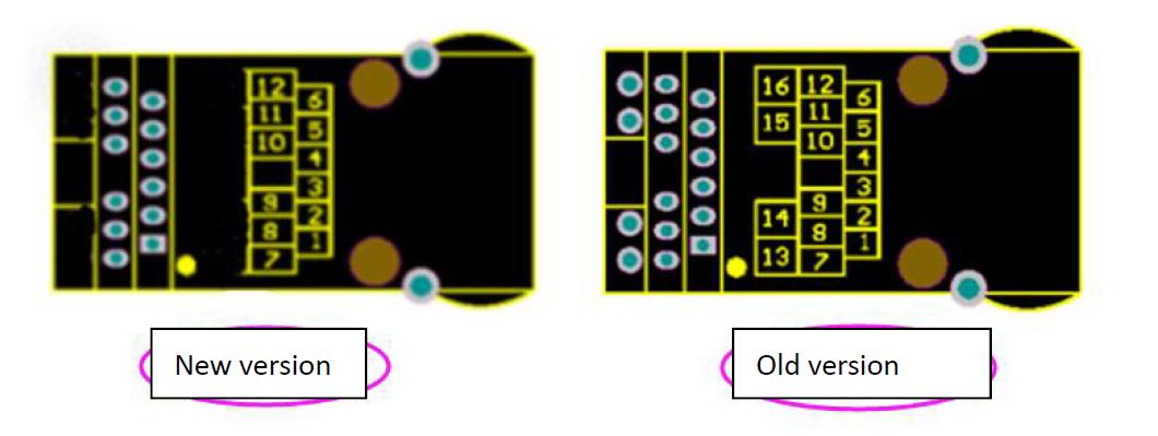 Hardware pins comparison Difference between K7 K6 and USR-K3 K2 Version