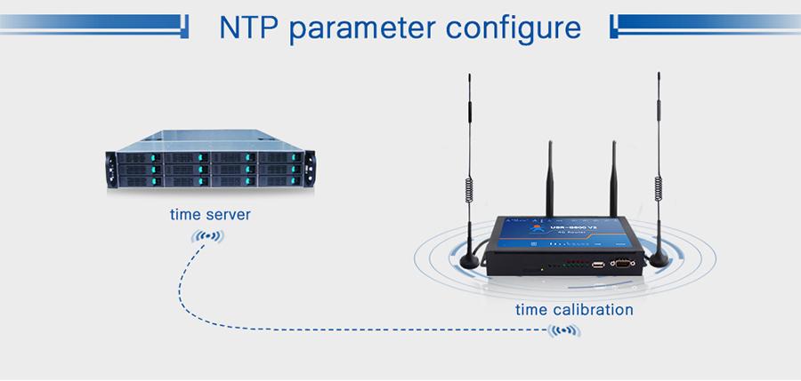 4G LTE Router USR-G800 V2 supports NTP. Default open NTP client, configure the NTP server address sometimes.