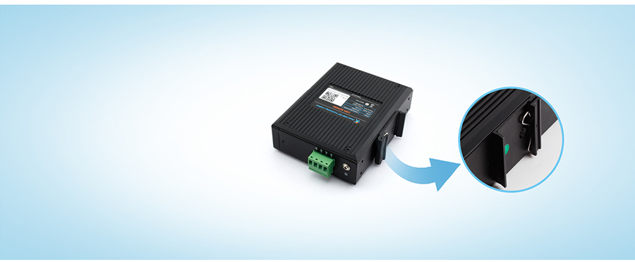 industrial swith SDR-050-L supports DIN-Rail Mounting