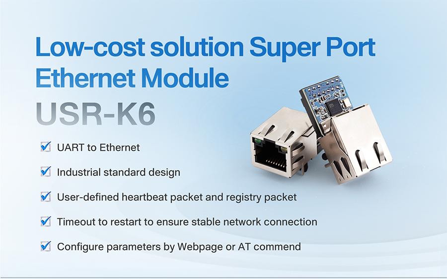 super port ethernet module USR-K6