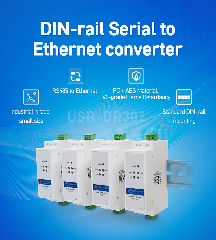 Tiny size serial to Ethernet converter