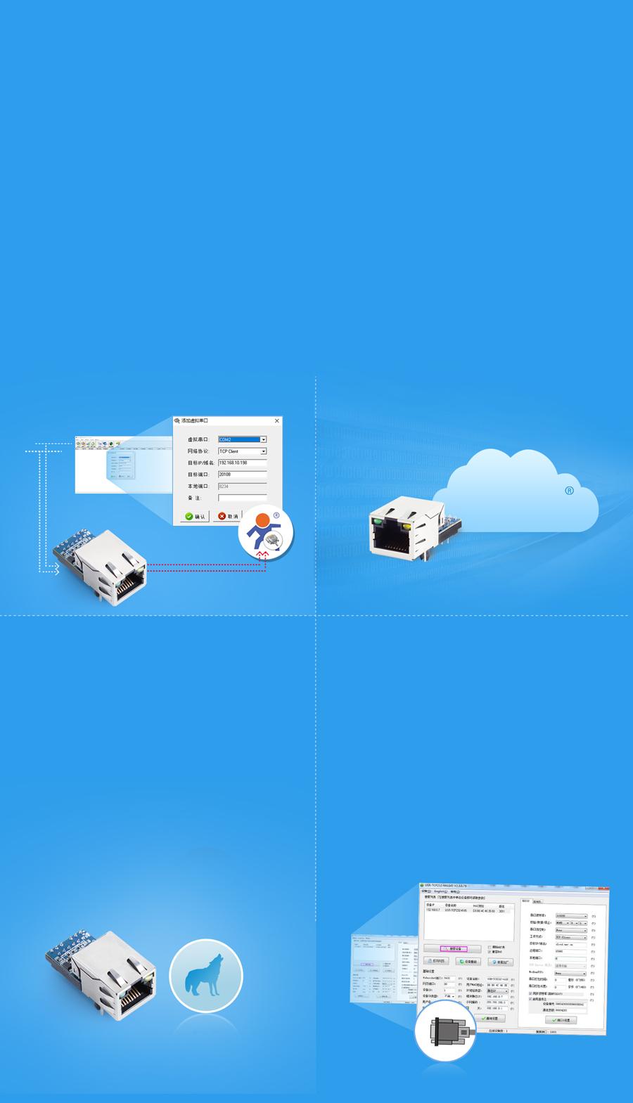 Features of Ethernet module USR-K5