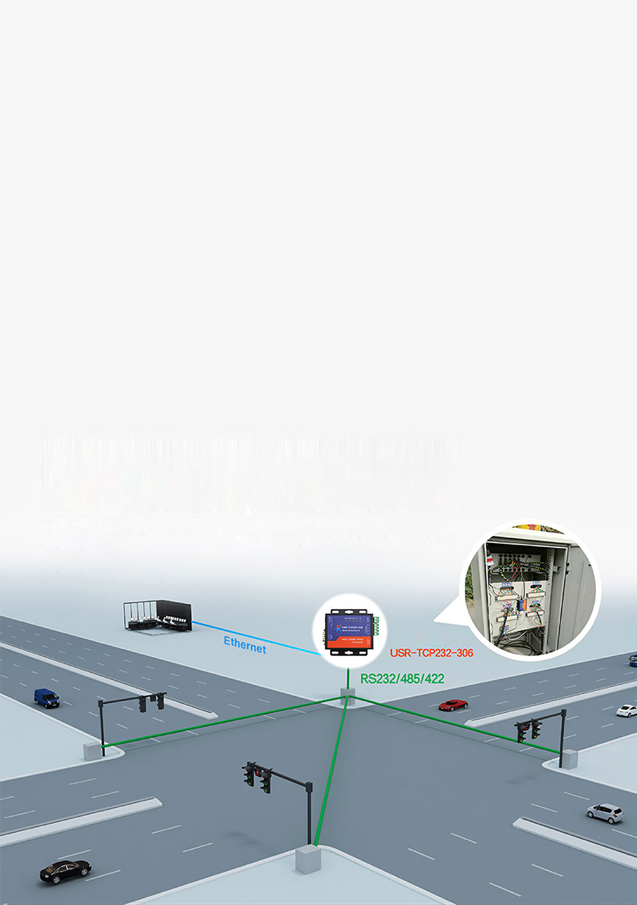 Application Field of Ethernet to serial converters: Traffic Lights Management System