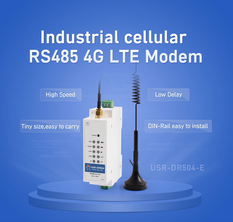 Introduction of Industrial cellular modem USR-DR504-E