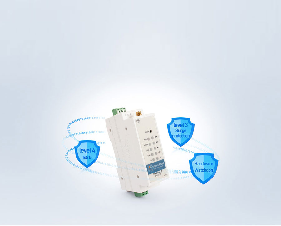 Industrial cellular modem USR-DR504-E with Hardware Protection function