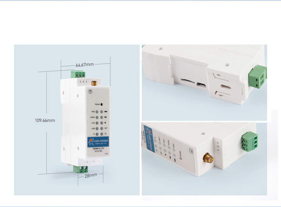 Product Details of Industrial cellular modem USR-DR504-E