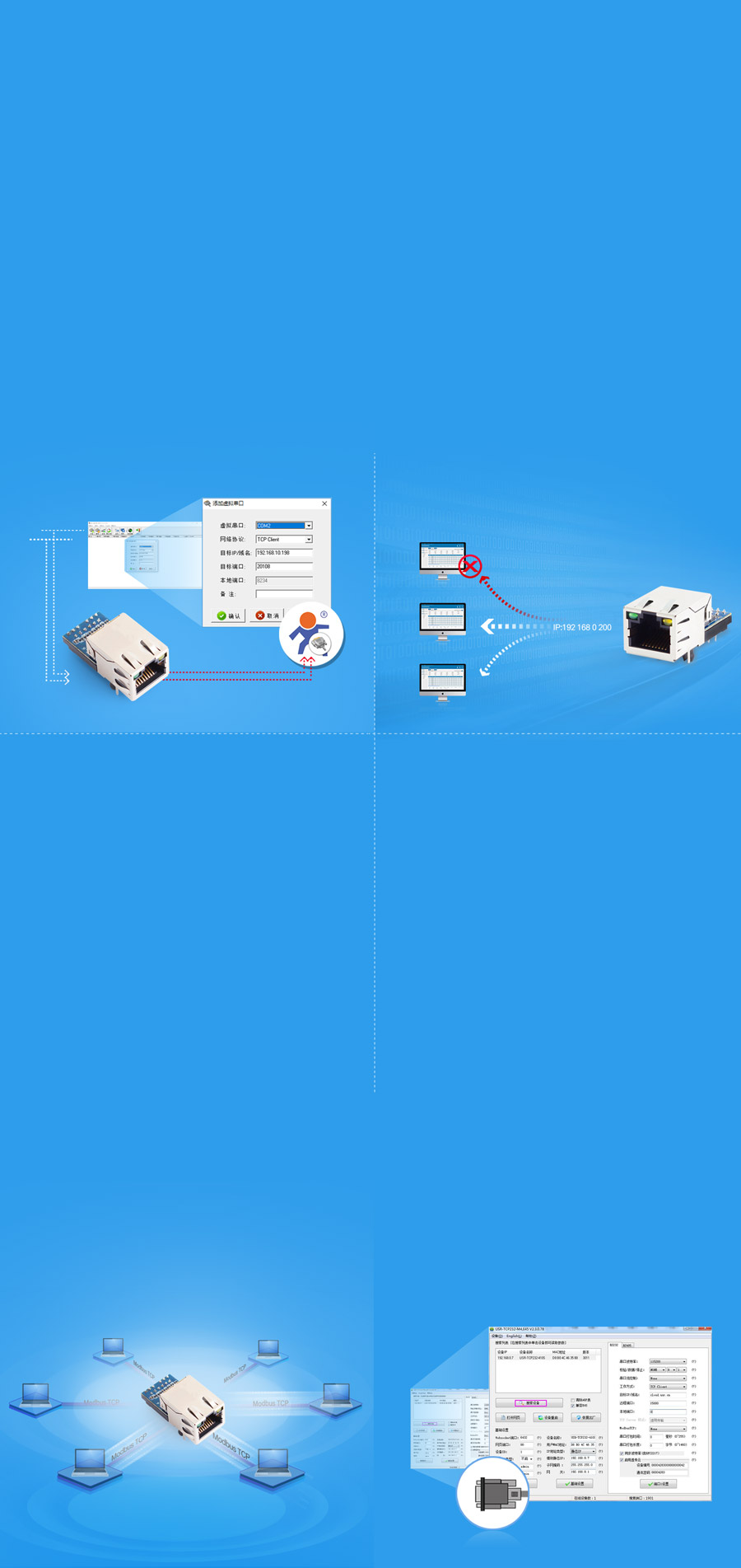 USR-K7 supports Virtual COM