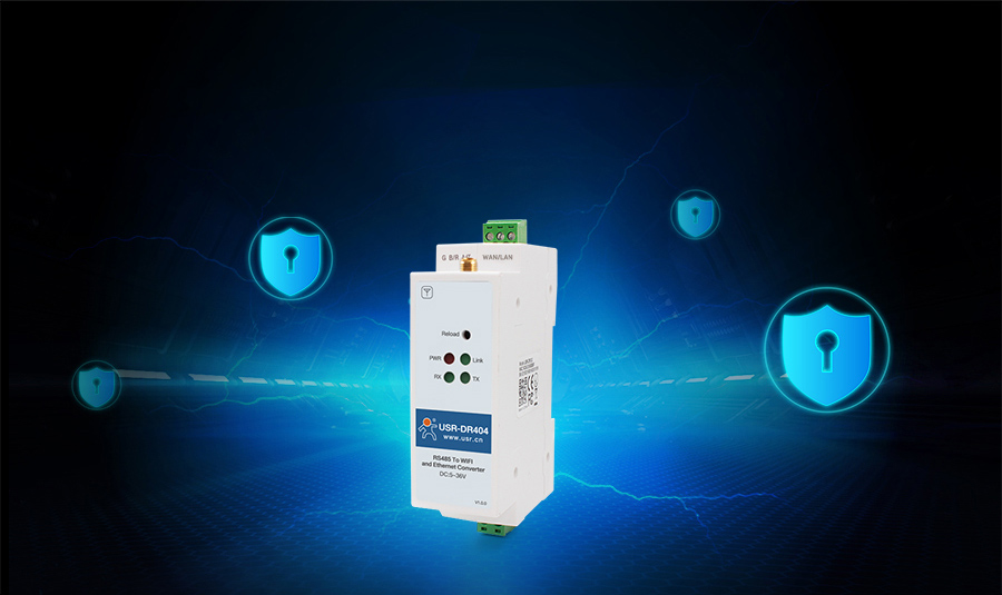 WIFI serial device server USR-DR404 with Hardware Protection function