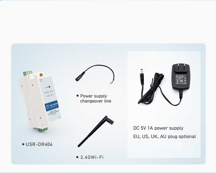 WIFI serial device server USR-DR404: Related Production