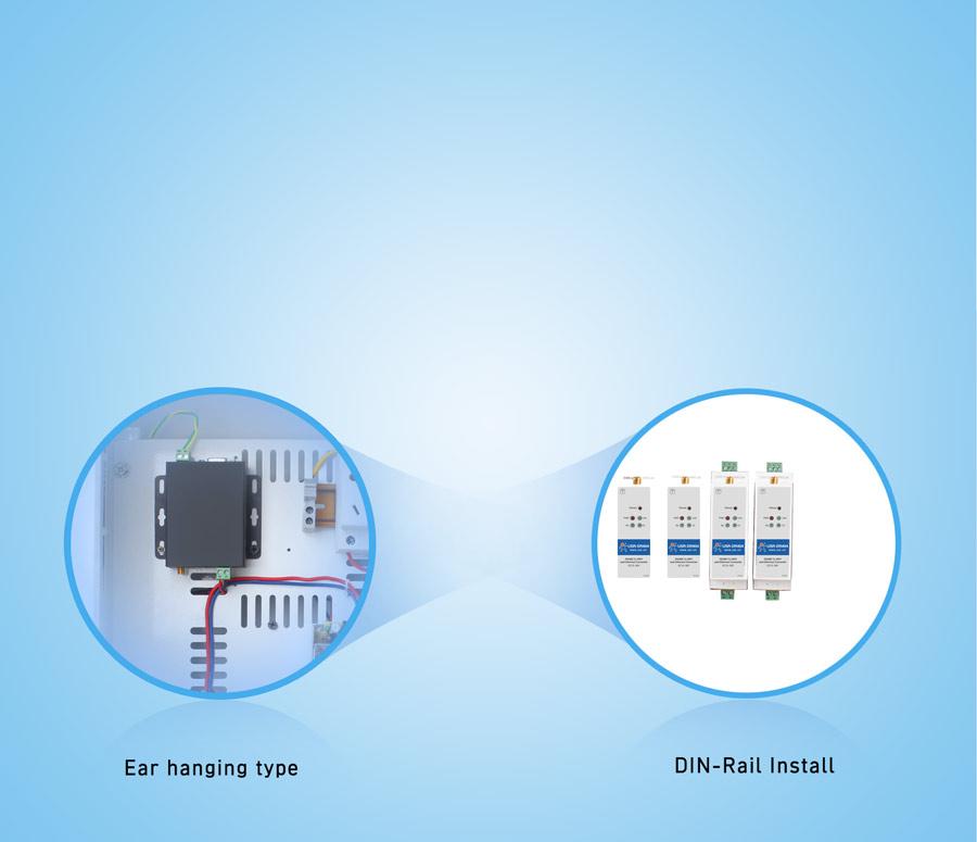 WIFI serial device server USR-DR404 with Din-rail Installation design