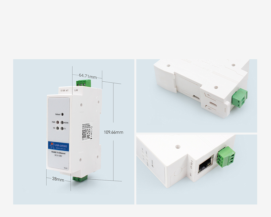 DIN-rail RS485 serial to Ethernet converter can identity Heartbeat Packet