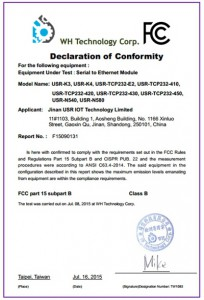 M4 Series and K3 FCC Certificate