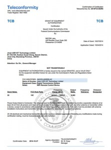 LonHand WIFI Product FCC Certificate