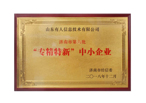 "USRIOT is Awarded Jinan ""Specialized, Fined, Peculiar,New "" Small and Medium-Size Enterprise"