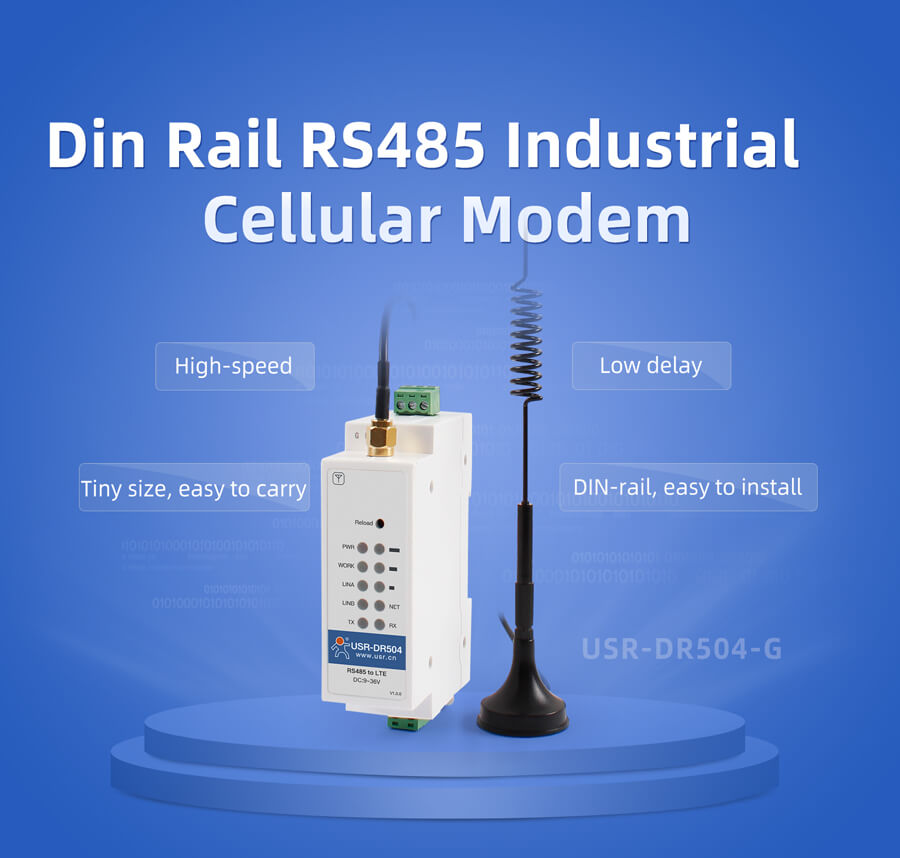 Din rail industrial modems USR-DR504-G