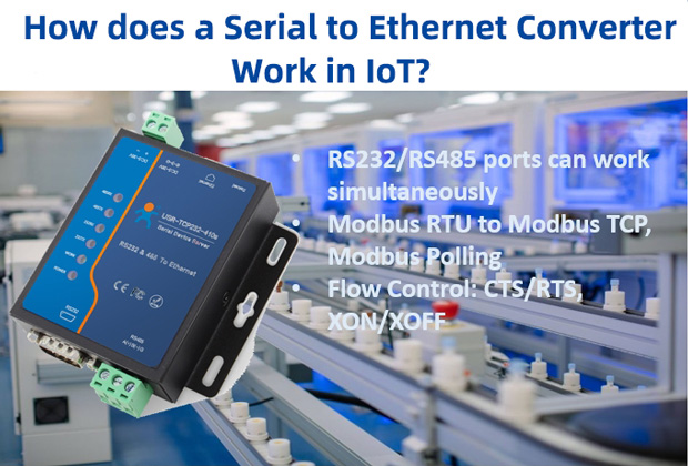 How does a Serial to Ethernet Converter Work in the IoT?